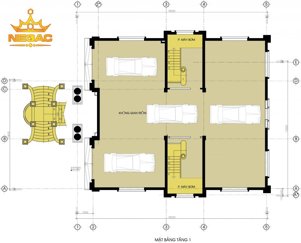 Mẫu biệt thự tân cổ điển 6 tầng 300m2