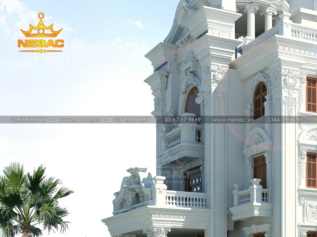 Thiết kế biệt thự tân cổ điển 6 tầng 350m2