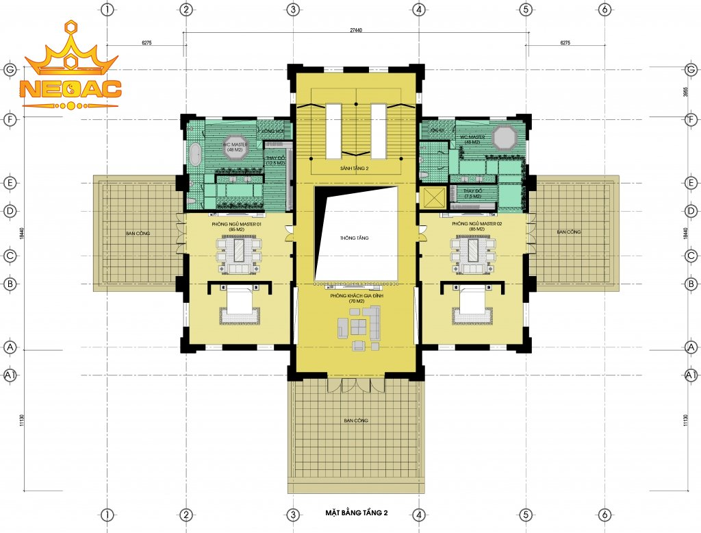 Kiến trúc biệt thự Pháp 6 tầng 700m2