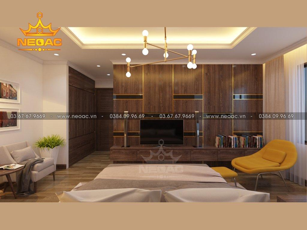 Mẫu thiết kế nội thất biệt thự hiện đại gỗ óc chó siêu sang