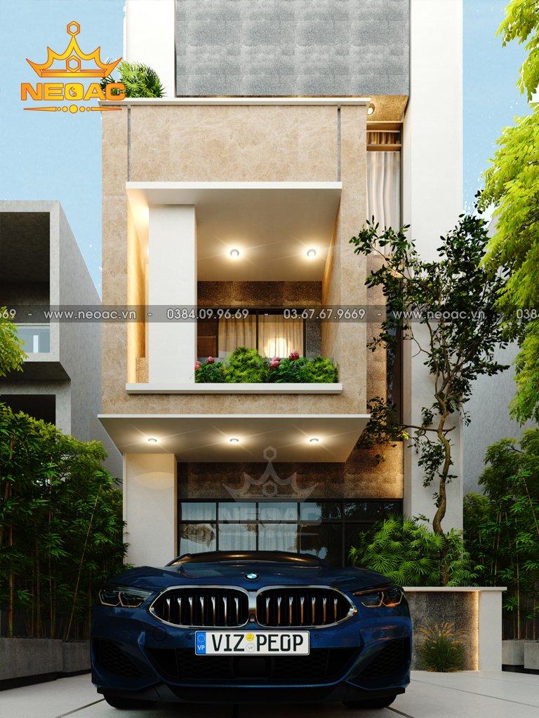nhà phố 3 tầng hiện đại 100m2 hình chữ L