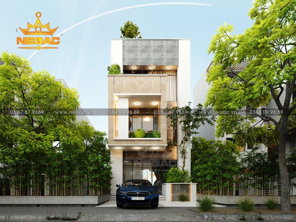 Hồ sơ xây dựng và bản vẽ kiến trúc nhà phố 3 tầng hiện đại 100m2