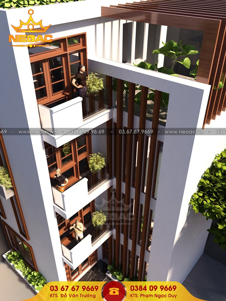 Nhà phố 4 tầng hiện đại 55m2 tại Hà Nội