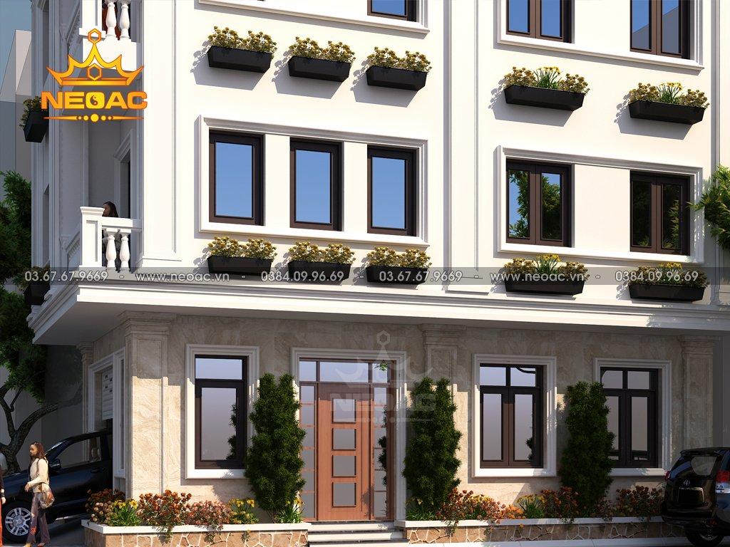 Hồ sơ xây dựng và bản vẽ kiến trúc nhà phố 4 tầng hiện đại 67m2