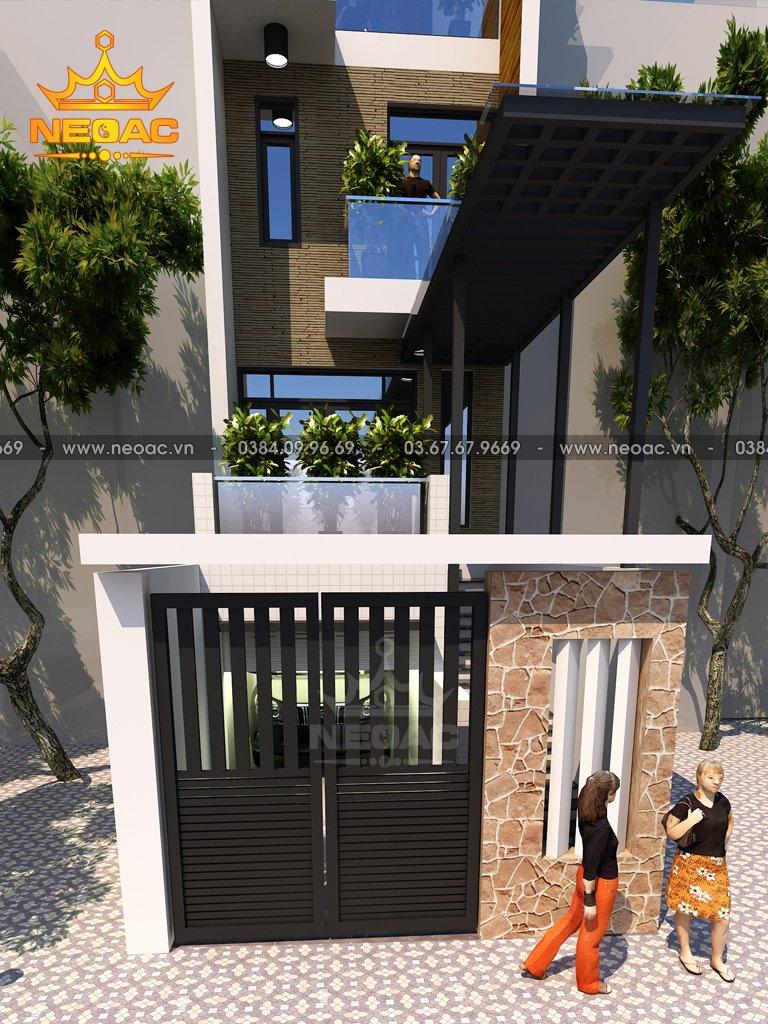 Nhà phố 4 tầng hiện đại 95m2 Huyện Kiến An