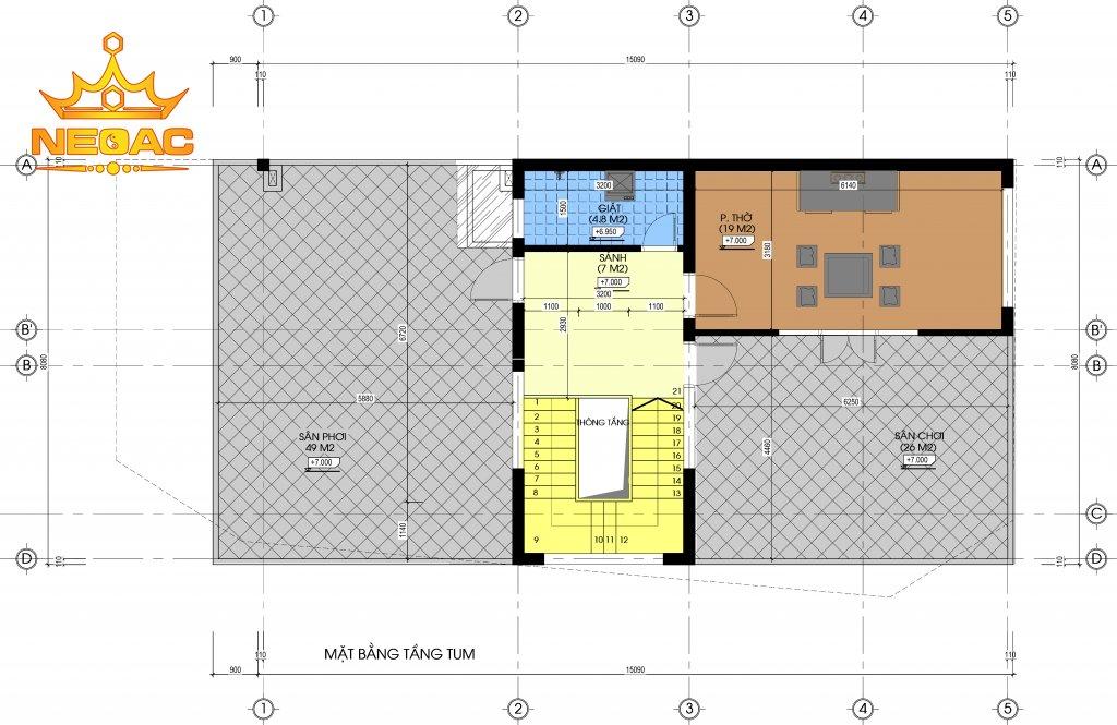 Xây dựng nhà phố 2 tầng hiện đại 114m2
