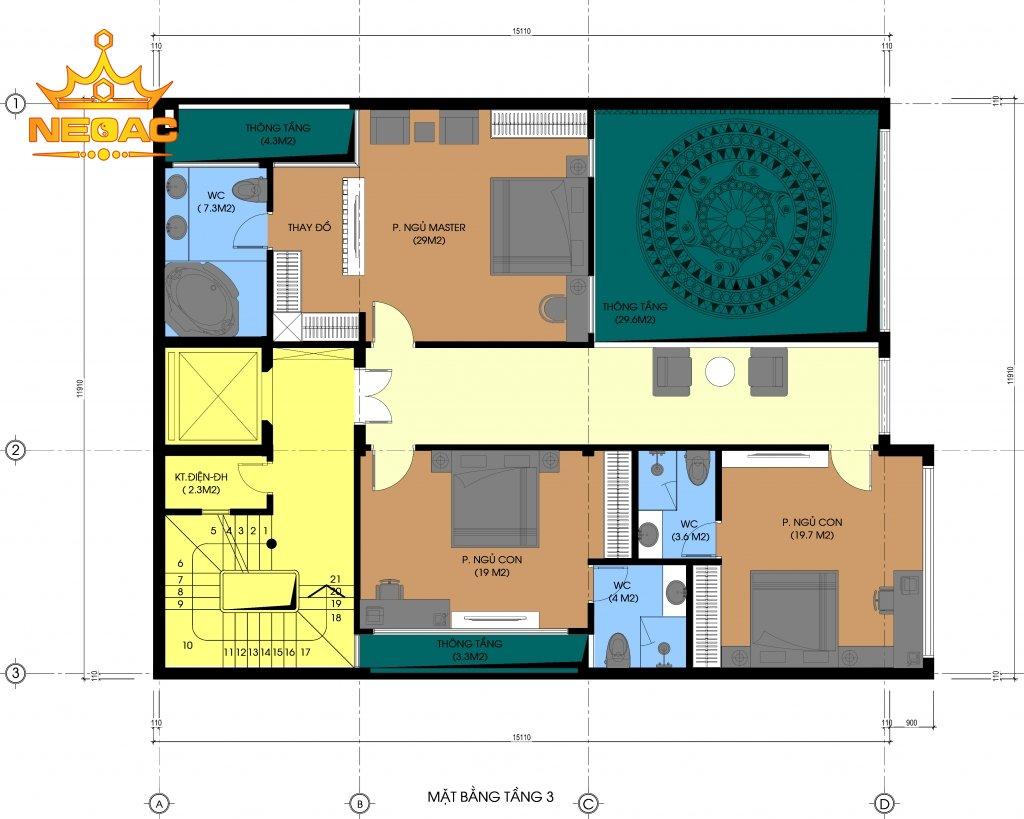 Hồ sơ nhà phố 3 tầng hiện đại tại Hà Đông