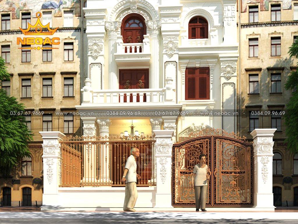 Thiết kế nhà phố 3 tầng tân cổ điển tại Phú Thọ