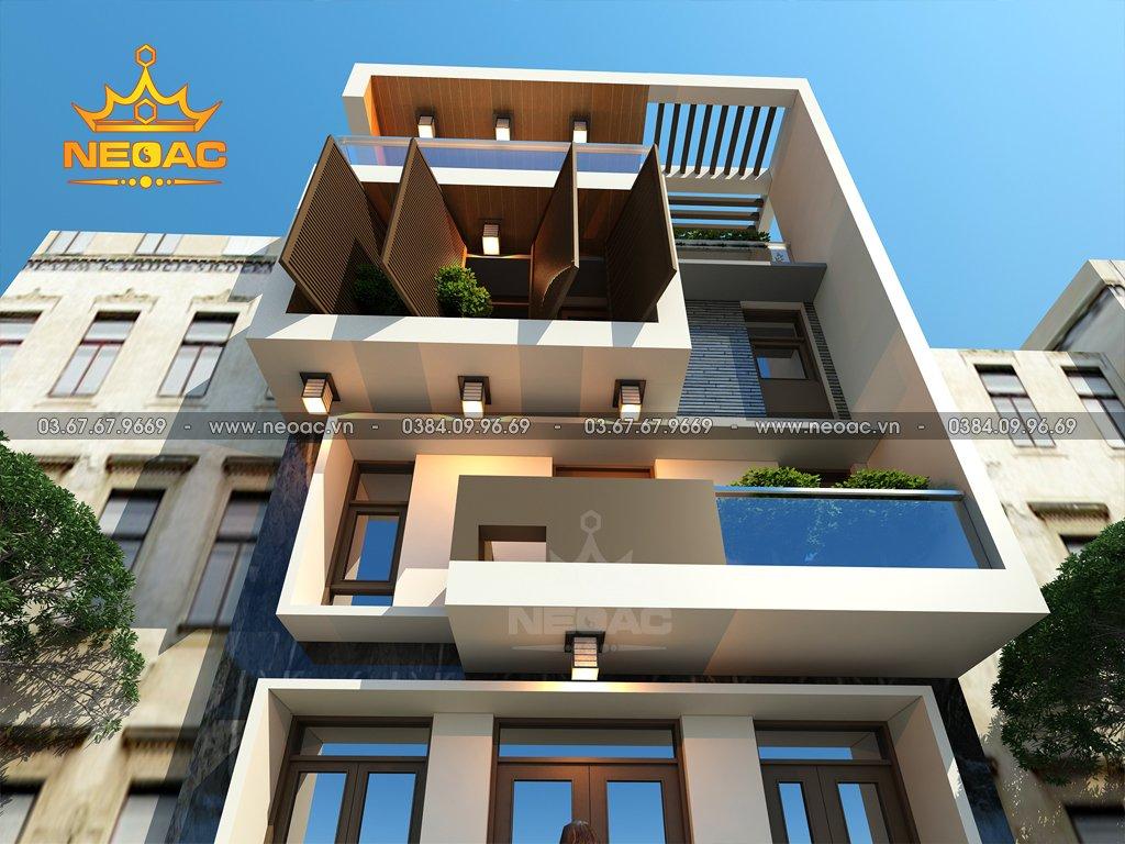 Mẫu nhà phố 4 tầng hiện đại tại Phú Thọ