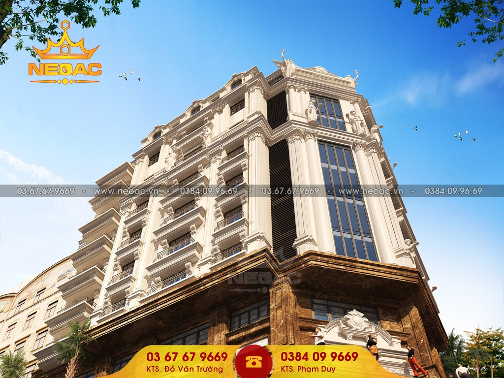 Dự án khách sạn 9 tầng tân cổ điển 281m2