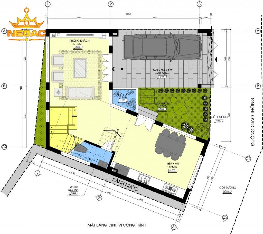Xây dựng nhà phố 2 tầng hiện đại 80m2