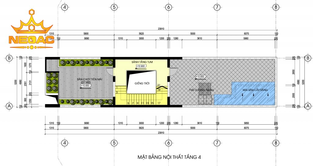 Hồ sơ nhà phố 4 tầng hiện đại 2.5 tỷ