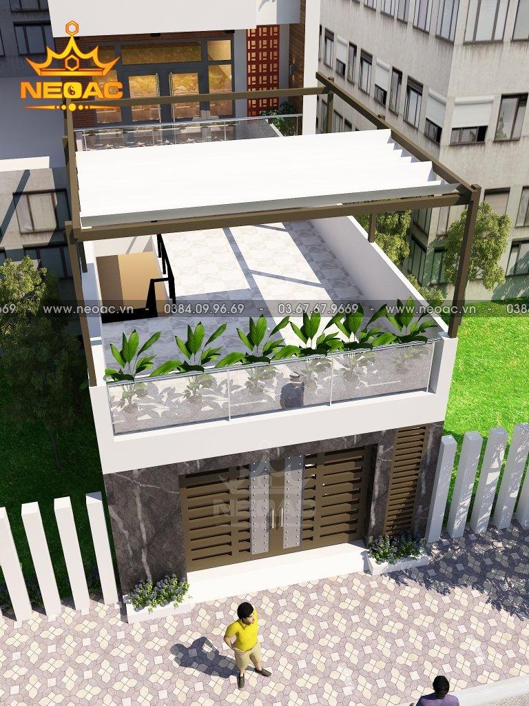 Mẫu nhà phố 4 tầng hiện đại 2.5 tỷ
