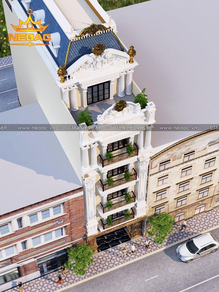 Thiết kế khách sạn 6 tầng tân cổ điển 134m2
