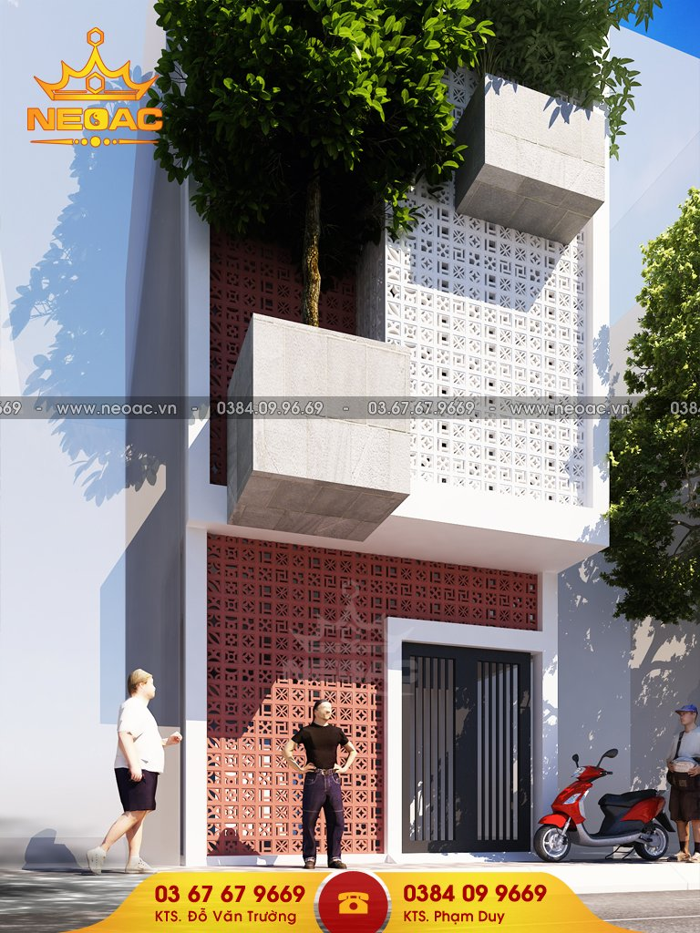 Thiết kế nhà phố 3 tầng hiện đại 60m2