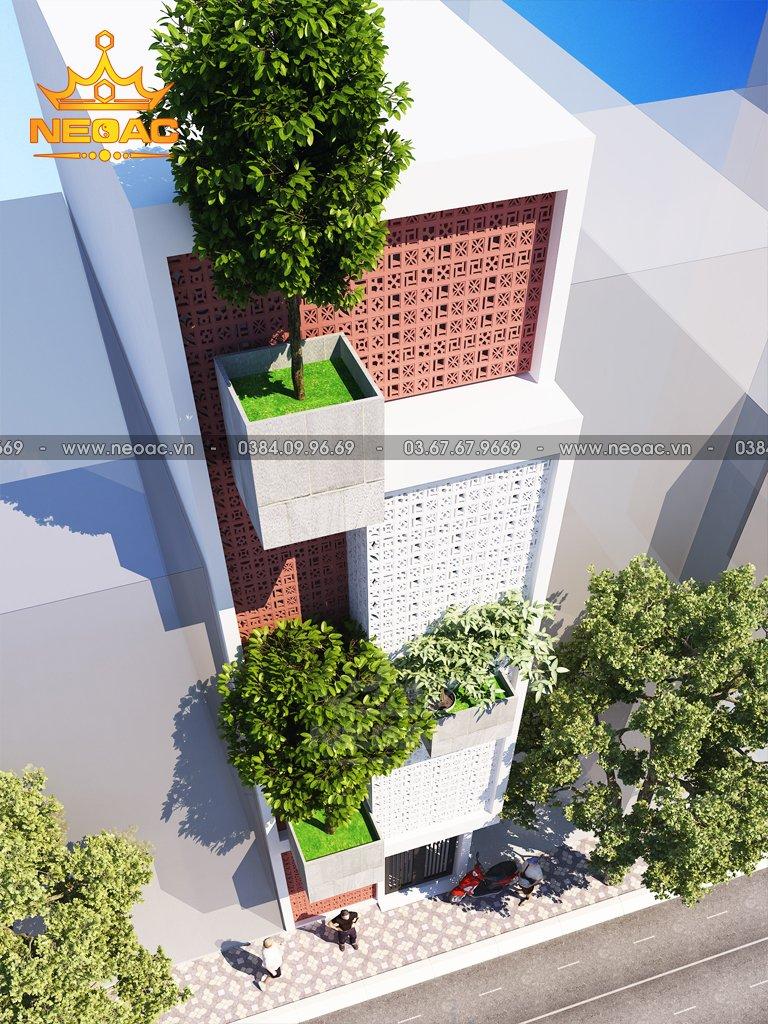 Bản vẽ nhà phố 3 tầng hiện đại 60m2