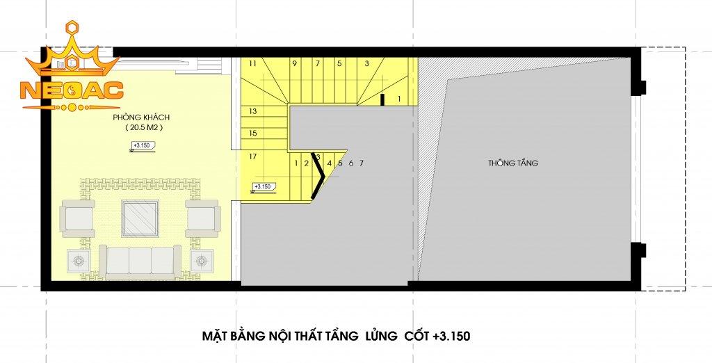 Hồ sơ thiết kế mẫu nhà phố 3 tầng tân cổ điển 74m2