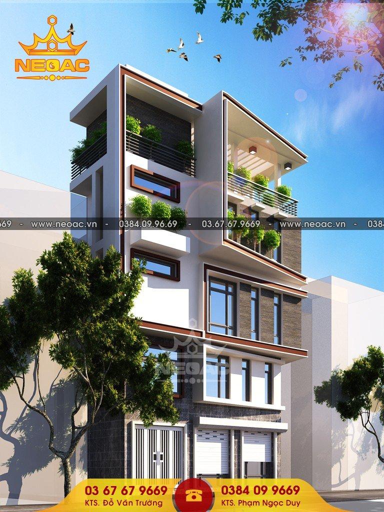 Thiết kế nhà phố 5 tầng hiện đại tại Tây Hồ