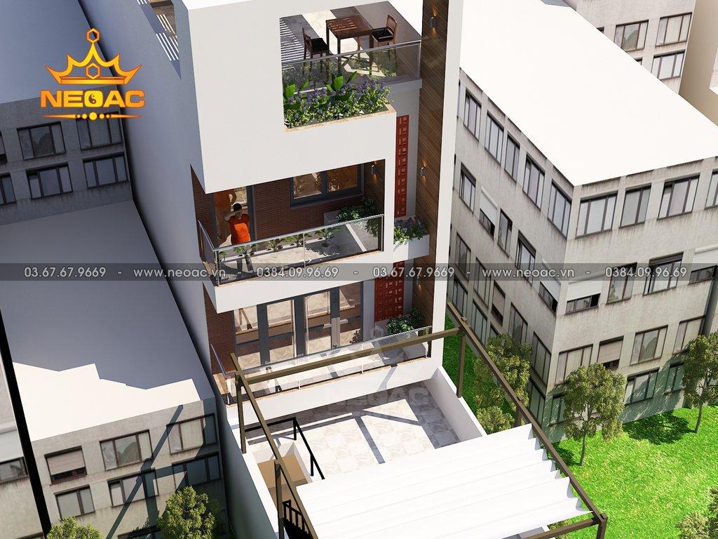 Dự án nhà phố 4 tầng hiện đại mặt tiền 5m