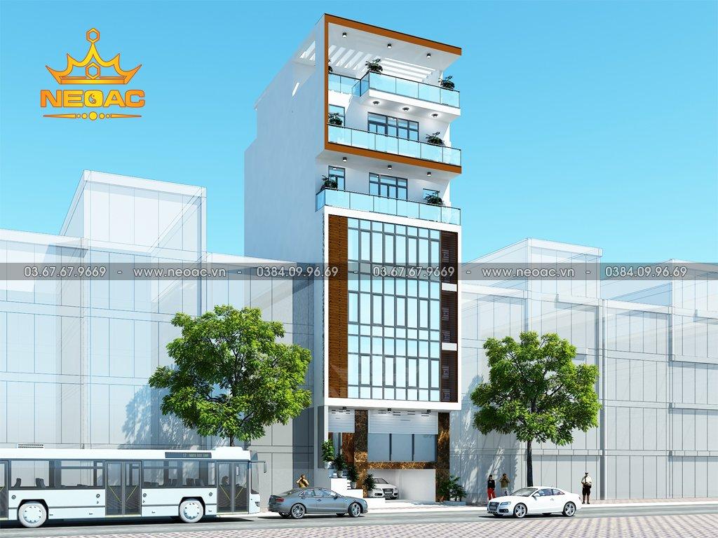 Kiến trúc nhà phố 7 tầng hiện đại 120m2