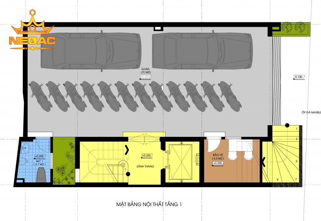 Hồ sơ nhà phố 7 tầng hiện đại 120m2