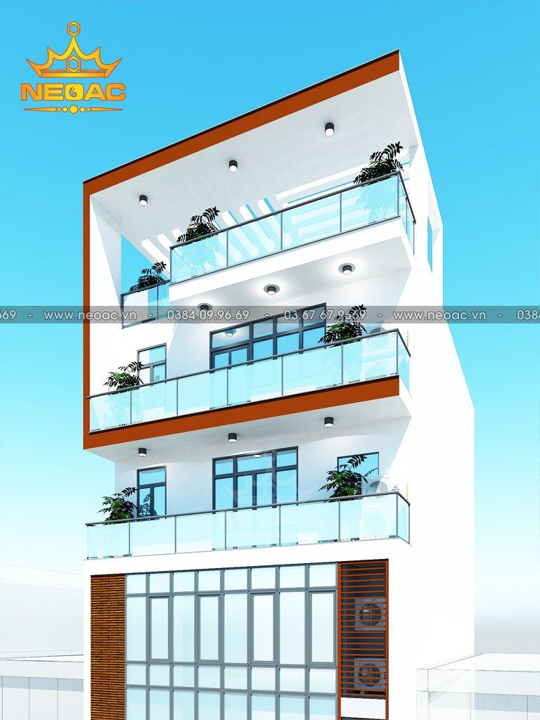 Bản vẽ nhà phố 7 tầng hiện đại 120m2