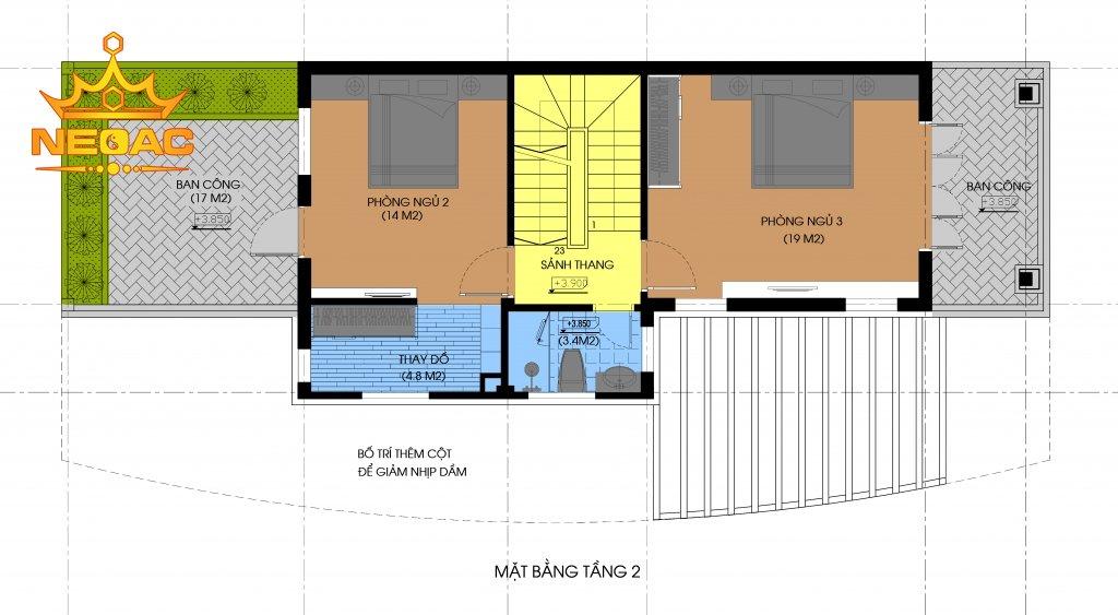 Dự án nhà phố 3 tầng hiện đại 86m2