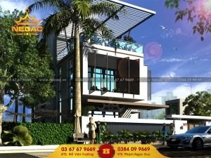 Hồ sơ mẫu thiết kế kiến trúc biệt thự 2 tầng hiện đại 1,5 tỷ