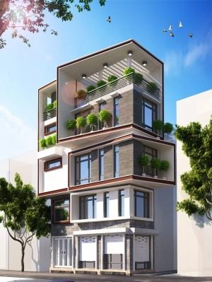 Độc đáo nhà phố 5 tầng hiện đại 30m2 lột xác