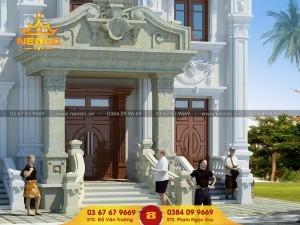Dự án thiết kế biệt thự 2 tầng tân cổ điển tại thị trấn Vĩnh Tường