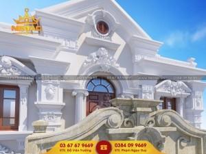 Dự án thiết kế biệt thự 2 tầng tân cổ điển tại Vĩnh Phúc