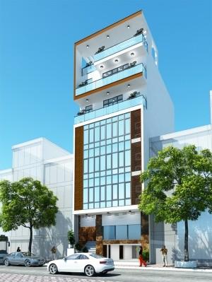 Dự án thiết kế nhà phố 7 tầng hiện đại 120m2