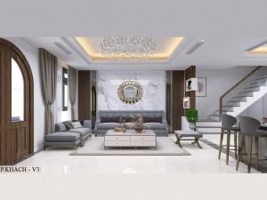 Bản vẽ mẫu nội thất biệt thự hiện đại Vinhomes Riverside