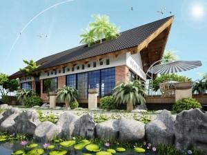 Hồ sơ xây dựng và bản vẽ kiến trúc biệt thự 1 tầng hiện đại 150m2