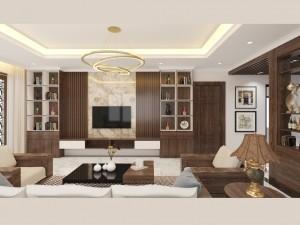 Bản vẽ mẫu nội thất biệt thự hiện đại tại Bắc Ninh