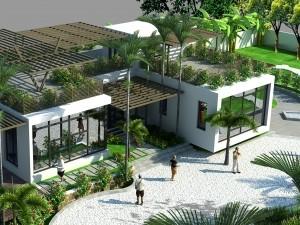 Hồ sơ xây dựng và bản vẽ kiến trúc biệt thự 1 tầng hiện đại 350m2