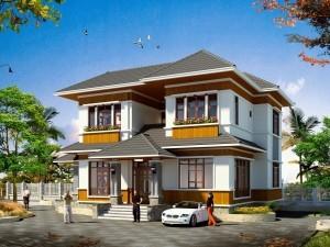 Hồ sơ xây dựng và bản vẽ kiến trúc biệt thự 2 tầng hiện đại 180m2