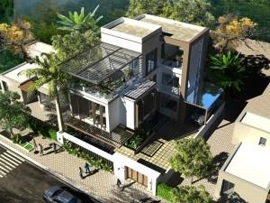 Hồ sơ xây dựng và bản vẽ kiến trúc biệt thự 2 tầng hiện đại 120m2