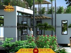 Hồ sơ xây dựng biệt thự 1 tầng hiện đại tại Yên Phong