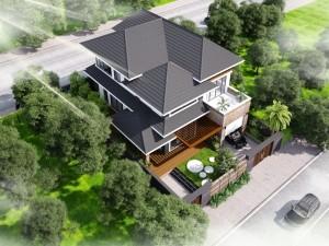 Hồ sơ xây dựng và bản vẽ kiến trúc biệt thự 2 tầng hiện đại 150m2