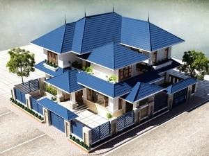 Hồ sơ xây dựng và bản vẽ kiến trúc biệt thự 2 tầng hiện đại 170m2