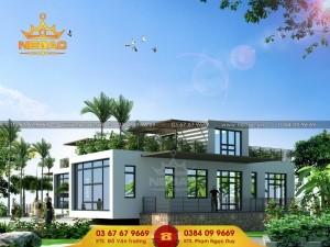 Dự án thiết kế biệt thự 1 tầng hiện đại tại Bắc Ninh