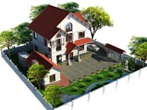 Hồ sơ xây dựng và bản vẽ kiến trúc biệt thự 3 tầng tân cổ điển 145m2