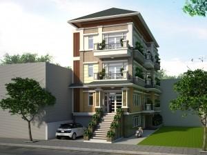 Hồ sơ xây dựng và bản vẽ kiến trúc biệt thự 4 tầng hiện đại 120m2
