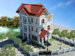 Hồ sơ xây dựng và bản vẽ kiến trúc biệt thự 4 tầng tân cổ điển 150m2
