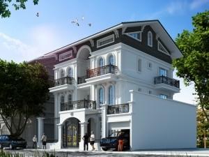 Hồ sơ xây dựng và bản vẽ kiến trúc biệt thự 5 tầng tân cổ điển 130m2