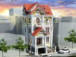 Hồ sơ xây dựng và bản vẽ kiến trúc biệt thự 5 tầng tân cổ điển 120m2