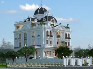 Hồ sơ xây dựng và bản vẽ kiến trúc biệt thự 6 tầng tân cổ điển 300m2