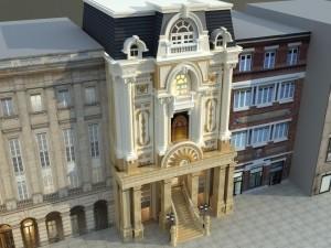 Hồ sơ xây dựng và bản vẽ kiến trúc biệt thự 6 tầng tân cổ điển 150m2