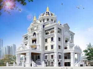 Hồ sơ xây dựng và bản vẽ kiến trúc biệt thự 6 tầng tân cổ điển 700m2